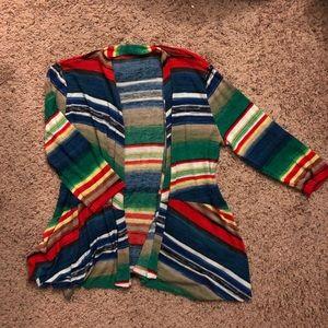 Sweaters - Bold striped cardigan